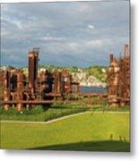 Gas Works Park In Seattle Washington Metal Print