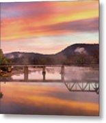 Gasconade River Sunrise Metal Print