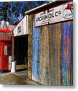 Gasoline And Oil Check Metal Print