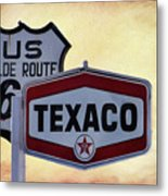 Gasoline Signs Metal Print