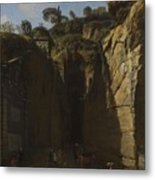 Gaspar Van Wittel  Called Vanvitelli Amersfoort 1652   1736   A View Of The Grotto At Pozzuoli With  Metal Print
