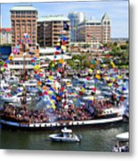 Gasparilla And Harbor Island Florida Metal Print