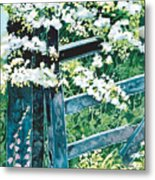 Gate And Blossom Metal Print