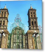Gate And Cathedral Metal Print