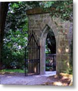 Gate At Cong Abbey Cong Ireland Metal Print
