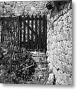 Gate At Dunguaire Castle Kinvara Ireland Metal Print