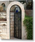 Gate In Rehavia II Metal Print
