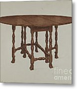 Gate-legged Table Metal Print