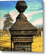 Gate Post Metal Print