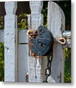 Gate Secured Metal Print