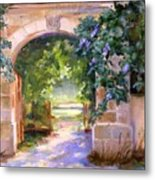 Gate To The Chateau Metal Print