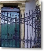 Gated Metal Print