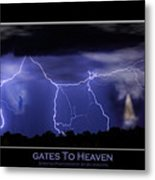 Gates To Heaven Color Poster Metal Print