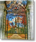 Gates To Knowledge Princeton University Metal Print