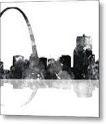 Gateway Arch St Louis Missouri Skyline Metal Print