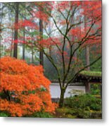 Gateway To Portland Japanese Garden Metal Print