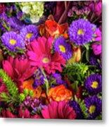 Gathered Garden Flowers Metal Print
