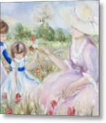 Gathering Flowers Metal Print