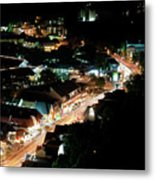 Gatlinburg, Tennessee At Night From The Space Needle Metal Print