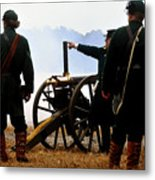Gatling Gun On The Battle Field Metal Print