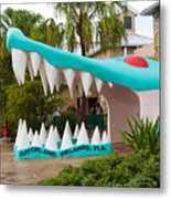 Gatorland In Kissimmee Is Just South Of Orlando In Florida Metal Print