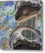 Gaudi Balcony Metal Print