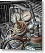 Gauges And Tanks For Cutting Torches Metal Print