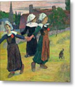 Gauguin, Breton Girls, 1888 Metal Print