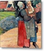 Gauguin: Breton Women, 1894 Metal Print