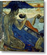 Gauguin: Pirogue, 19th C Metal Print