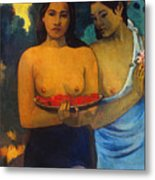 Gauguin: Two Women, 1899 Metal Print by Granger