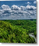 Gauley River Canyon And Clouds Metal Print