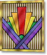 Rainbow Art Deco Metal Print