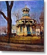 Gazebo And Tree Metal Print