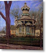 Gazebo At Wisconsin Club Metal Print