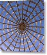 Gazebo Blue Sky Abstract Metal Print