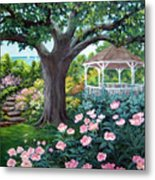 Gazebo By The Lake Metal Print