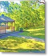 Gazebo On Onion Creek Metal Print