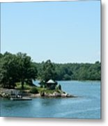 Gazebo On The Ocean Metal Print