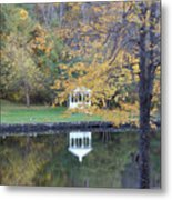 Gazebo Reflection Metal Print