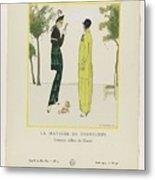 Gazette Du Bon Ton 1914   No  4  Pl  36  La Matinee De Printemps  Costumes Tailleur De Doucet  J  M Metal Print