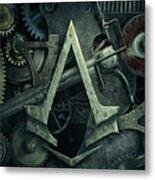 Gear Head Steampunk  Metal Print