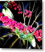 Gecko Berry Metal Print