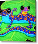 Geckos Metal Print