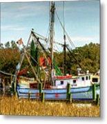 Geechie Seafood Shrimp Boats Metal Print