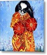 Geisha Chin Metal Print