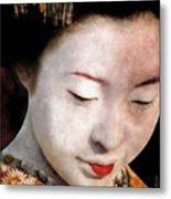 Geisha Girl Metal Print