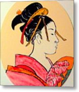 Geisha In The House Of Pleasure Metal Print