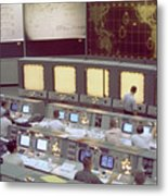 Gemini Mission Control Metal Print by Nasa/Science Source