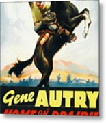 Gene Autry In Home On The Prairie 1939 Metal Print